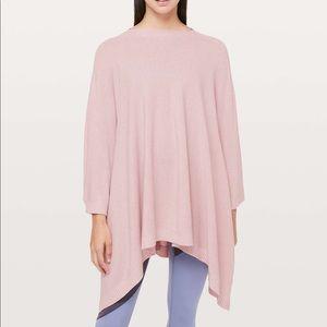 Lululemon pink poncho